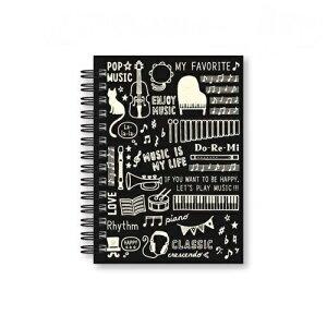 【メモ帳】【かわいい】WリングメモA6 MUSIC LIFE ミュージックライフ 在庫限り
