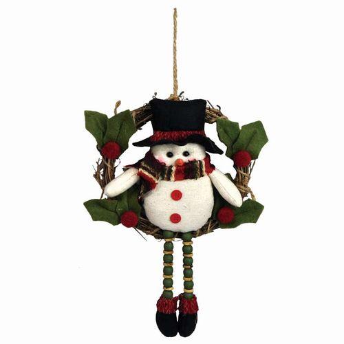【クリスマス】【デコレーション】ミニリース サンタ 足ぶら