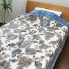 日本制造的豪华级 2 件匹配的毯子 (100%腈纶) 单大小西川产业豪华毯子