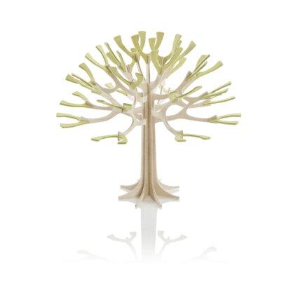 【LOVI】シーズンツリー・12cm/ナチュラルウッド+ペールグリーン/グリーティングカード(組み立て式)