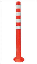 ソフトコーンM 高さ1000mmタイプ|ポールコーン 駐車場ポール 赤白 駐車場用品 ポスト コーンポスト ガイドポスト 安全用品 保安用品 安全 保安 ガードポール ガードコーン ガイドコーン 車線分離標 安全グッズ 現場