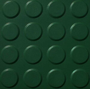 【エントリーでポイント5倍♪】【代引き不可】【送料無料】スパイクマット グリーン 18t×1000×2000 (ゴルフ場・スポーツ施設などに)   ゴムマット 養生ゴムマット 工事現場マット 工事用品