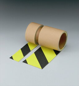 【代引き不可】蛍光ノンスリップ(ゼブラタイプ)(100mm幅)【374-44】(すべり止めテープ) | すべり止め 滑り止め テープ ノンスリップテープ ノンスリップ 安全用品 保安用品 安全 業務用 滑り止めテープ 蛍光テープ 工事現場 足場 安全テープ すべりどめ 滑りどめ 資材