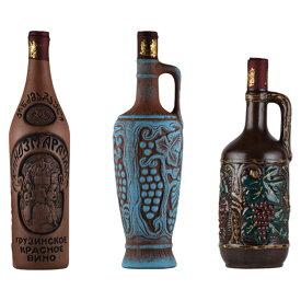 ワインセット ジョージアワイン 送料無料 グルジアワイン ユネスコ無形文化遺産登録ワイン クヴェヴリ フルボディ 辛口 3本
