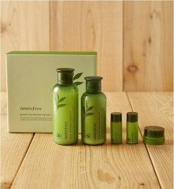 [innisfree] グリーンティーバランシングスキンケアセットEX Green Tea Balancing Skin Care Set EX 韓国コスメ 韓国直送 速達