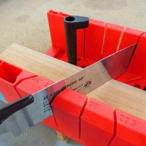 マイターボックス 鋸切断ガイド 固定 ピン固定 角度調整 加工材 加工 木材 カット ノコギリ ガイド ノコギリガイド クランプ 切断 補助 工具 ツーバイフォー 木工用角度切鋸 角度計 DIY 綺麗