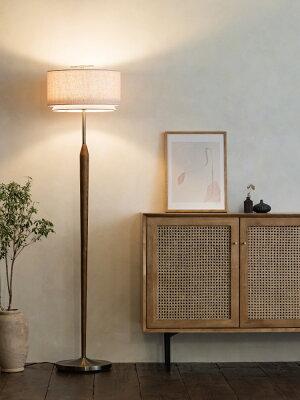 【1日限定ポイント11倍】【送料無料】Svanteスヴァンテフロアライト|フロアスタンドおしゃれお洒落かわいいインテリアミッドセンチュリーLED木製レトロ間接照明布書斎喫茶店寝室リビングダイニング什器ムードアメリカンビンテージ
