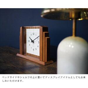 【インターフォルム公式】【送料無料】Uttranウットラン置き時計|置時計おしゃれかわいい北欧インテリア静音テーブルクロックシンプルナチュラルミッドセンチュリーリビングダイニング寝室書斎一人暮らし音がしないお祝いギフト新築木製
