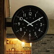 【インターフォルム公式】【送料無料】Anthosアントス掛け時計|両面時計時計柱時計おしゃれお洒落かわいい壁時計壁掛け時計インダストリアルモノトーンシンプルブラックグレー北欧リビングダイニング一人暮らし新築ギフトカフェ