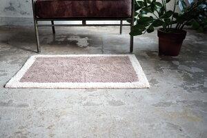 【インターフォルム公式】【送料無料】Saiサイマット|玄関マットおしゃれかわいいバスマットバイカラー北欧オシャレシンプル洗面寝室キッチン玄関洗面所一人暮らしグレーアイボリーコットン洗える綿100%