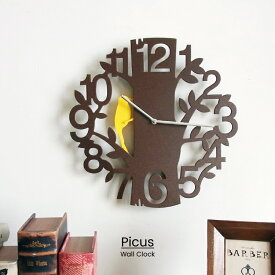 【RカードエントリーでP12倍】 【送料無料】 Picus ピークス 掛け時計 | 時計 おしゃれ お洒落 かわいい インテリア ステップムーブメント 壁時計 壁掛け時計 振り子時計 振り子 シンプル 北欧 ポップ ナチュラル レトロ リビング ダイニング 子供部屋 一人暮らし ギフト