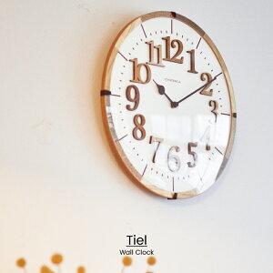 【インターフォルム公式】【送料無料】Tielティール掛け時計|時計おしゃれお洒落かわいいインテリア電波時計ステップムーブメント壁時計壁掛け時計北欧ナチュラルレトロシンプルリビングダイニング子供部屋一人暮らしデザインギフト見やすい