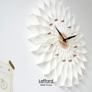 【RカードエントリーでP12倍】 【送料無料】 Leffard ルファール 掛け時計 | 時計 おしゃれ お洒落 かわいい インテリア ステップムーブメント 壁時計 壁掛け時計 ナチュラル ガーリー フェミニ