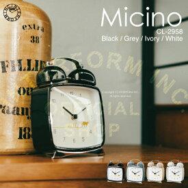 【インターフォルム公式】 Micino -Bell- ミチーノ -ベル- 目覚まし時計 | 時計 おしゃれ お洒落 かわいい インテリア 目覚まし アラームクロック アラーム ステップムーブメント ナイトライト 置時計 ナチュラル フェミニン リビング 子供部屋 一人暮らし ネコ デザイン