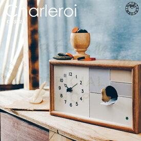 【インターフォルム公式】 【送料無料】 Charleroi シャルロア 置時計 | 時計 おしゃれ お洒落 かわいい インテリア ステップムーブメント 壁時計 壁掛け時計 鳩時計 北欧 シンプル ナチュラル レトロ リビング ダイニング 寝室 書斎 子供部屋 一人暮らし 2way ギフト
