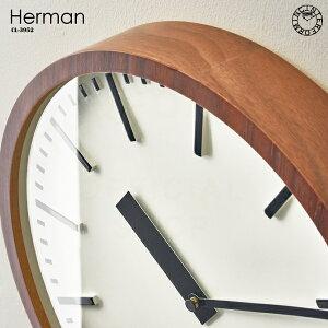 【インターフォルム公式】【送料無料】Hermanヘルマン掛け時計|時計おしゃれお洒落かわいいインテリアスイープムーブメント壁時計壁掛け時計北欧ナチュラルシンプルリビングダイニング寝室書斎一人暮らし新居新築