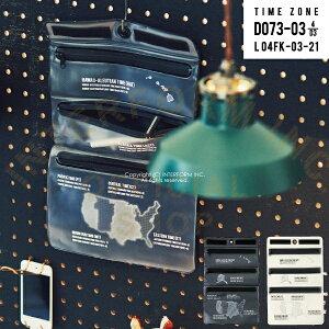 【インターフォルム公式】 Time Zone タイムゾーン トラベルポーチ Mサイズ   ポーチ おしゃれ お洒落 かわいい インテリア フラットポーチ ウォールデコ シンプル モノトーン モダン インダス