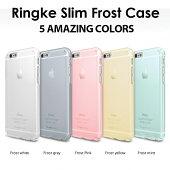 iphone6sケース薄型半透明スケルトン耐衝撃衝撃保護衝撃吸収iphone6送料無料アイスカラー軽量スリムストラップホールリンケスリムAppleiPhone64.7正規品[RingkeSLIMFrostforiPhone6/6s]532P15May16