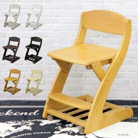 全7色 学習チェア 木製 子供 椅子 キャスター付 ダイニングチェア ブラウン ホワイト ダーク ライト ハート