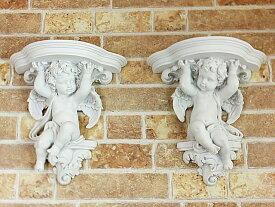 エンジェル コンソール 壁掛け飾り棚 ウォールデコ 壁掛け 天使 エンジェル 天使雑貨 エンジェル雑貨 妖精 フェアリー 薔薇 ばら バラ インテリア