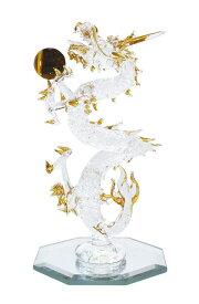 【風水】 金運昇り龍 L金運開運 タイガーアイ ドラゴン ガラス 龍 置物 幸せを呼び込む人気アイテム 妖精 フェアリー 妖精雑貨 フェアリー雑貨 天使 エンジェル 天使雑貨 エンジェル雑貨 薔薇 ばら バラ