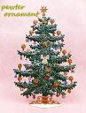 ピューター製ツリー【クリスマス オブジェ サンタ スノーマン】【薔薇雑貨 薔薇食器 ローズ小物 可愛い ヴィクトリアン・・・