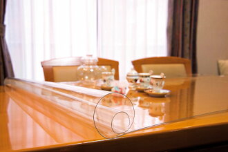 透明桌垫 (1 m/m) 标准尺寸大约 1200 x 10 m 卷清楚日本划痕防止污垢保护桌垫