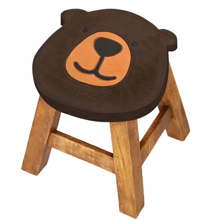 ウッドスツール クマシェイプ Φ25×H25〜26cm 送料無料 アカシア製 天然木 手作り ディスプレイ台 腰掛 可愛い 動物 ラウンドスツール 椅子