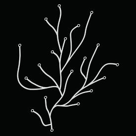 【正規品】 Algue white / アルギュ ホワイト [215 047 01] W25.7cm H32cm 37g x25本1セット (約1メートル)