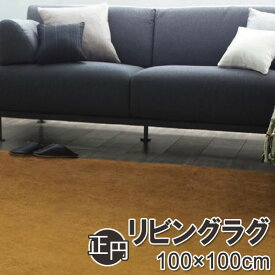 スミノエHOMEラグ|Mキャメル・フレーテ 100×100cm(正円)