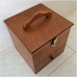 メイクボックス鏡付きコスメボックス木製メイクBOXミラー付き化粧品収納メイク箱化粧箱メーキャップミラー母の日日本製国産送料無料通販あおいM2332【ken】【smtb-f】