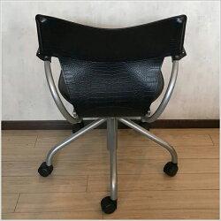 カリモクデスクチェアーキャスター付きデスクチェアレザーオフィスチェア肘付きパーソナルチェア回転式椅子昇降式黒ブラック高級国産日本製送料無料通販XT4340BJ【kar】【smtb-F】