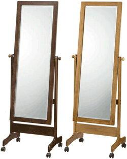 スタンドミラーキャスター付き全身鏡おしゃれ全身ミラー北欧姿見和風姿見鏡和モダン送料無料通販SMC1560LOSMC1560WE【akb】【smtb-f】