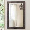 壁掛けミラー おしゃれ 壁掛け鏡 ヴィンテージ風 ウォールミラー 北欧 吊り鏡 木枠 レトロ 高級 アルテジャパン 送料…