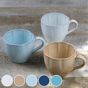 マグカップ 360ml 花シリーズ 洋食器 陶器 日本製 ぎんはく ( カップ マグ 輪花 大きめ コーヒーカップ 湯呑み コップ コーヒー 紅茶 スープカップ 和モダン おしゃれ かわいい 和洋 )【39シ