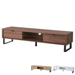 テレビ台ローボード木目調スチール脚幅150cm