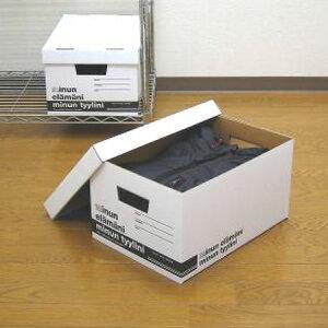 クラフト収納 ミヌンボックス M ( ダンボール 収納ケース 収納ボックス 収納box 紙 フタ付き 蓋付 蓋付き ふた付き B5ファイル 衣類収納 衣装ケース ) 【39ショップ】