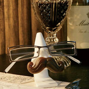 眼鏡スタンド グラスホルダー マスタッシュ 髭 ダルトン DULTON ( メガネ 眼鏡 スタンド ホルダー 鼻型 ひげ メガネ置き 眼鏡置き めがねスタンド めがね サングラス 老眼鏡 卓上 メガネ収納 1