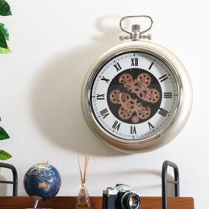 掛け時計 ギア M 壁掛け 時計 インテリア アナログ ( 送料無料 壁掛け時計 とけい ウォールクロック クロック 雑貨 大型 大きい 懐中時計風 アンティーク風 デザイン おしゃれ リビング ダイ