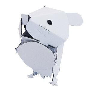 ダンボール おもちゃ ハムスター 工作 子供 組立 ( 工作キット ペパークラフト ペーパーアート キット 動物 段ボール 組み立て 作る 簡単 リサイクル エコ ミニチュア 模型 ミニ 立体的 本格