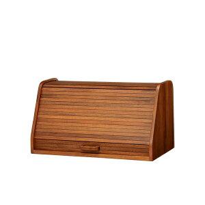 ブレッドケース 卓上収納 天然木 CALMA 幅50cm ( 送料無料 パンケース ブレッドボックス 食パンケース パン 収納 木製 小物入れ ウッドボックス 卓上 木箱 調味料ケース 50センチ 完成品
