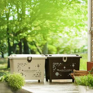 ガーデンコンテナ 園芸 収納ボックス 70L ガーデン用品 大容量 ロック機能付き ( ベランダ収納 コンテナボックス 収納ケース ベランダ 収納 収納庫 ベランダ収納ボックス ガーデニング用品