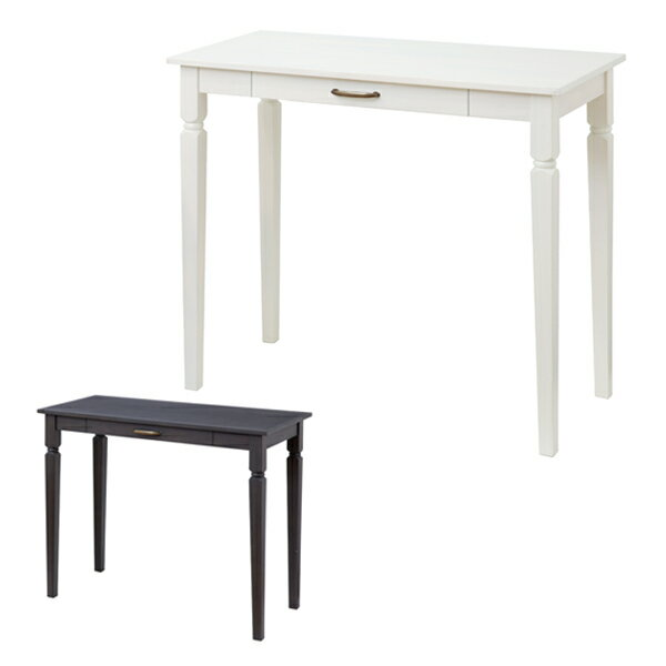 コンソールデスク テーブル 引出し付 ine reno 幅90cm ( 送料無料 コンソールテーブル デスク パソコンテーブル 引き出し 木製 白家具 モノトーン PCデスク 引出し シンプル シンプルモダン 大人かわいい )