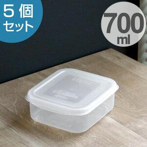 保存容器 フレッシュキーパー スナックケース M 700ml 5点セット ( 食品保存容器 プラスチック容器 フードストッカー 電子レンジ対応 冷凍対応 プラスチック製保存容器 保存ケース 抗菌効果