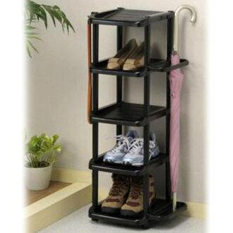 Shoe rack 5-stage with umbrella stand (new shoe storage door storage shoe box shelves shoes slim umbrella umbrella stands) 10P11Apr15