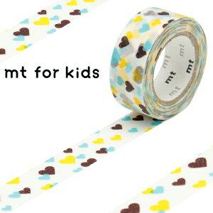 マスキングテープ mt for kids モチーフ ハート 幅15mm ( マスキング テープ マステ カモ井加工紙 エムティー 和紙テープ ラッピング デコレーション コラージュ ラッピングテープ ハー