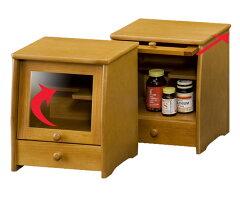 薬箱サプリメントボックス収納棚木製引出し付幅23cm