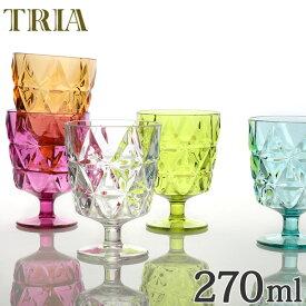 キントー KINTO ワイングラス トリア TRIA コップ 270ml ( カップ 食器 食洗機対応 割れにくい プラスチック クリア プラスチック製 プラコップ ) 【5000円以上送料無料】