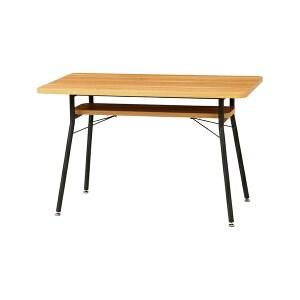 ダイニングテーブル スチールフレーム ケティル 幅110cm ( 送料無料 テーブル アイアン 木製 おしゃれ デスク 作業台 棚 リビング ダイニング コンパクト ナチュラル パソコンデスク カ