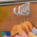 ドアハンガー どこでもドアフック 5連タイプ ( バッグ収納 ドアフック ハンガーフック ハンガーラック ドアハンガ…